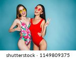 two happy and sexy young... | Shutterstock . vector #1149809375