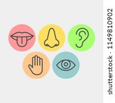 sense organs flat vector icons | Shutterstock .eps vector #1149810902