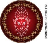 durga calligraphic | Shutterstock .eps vector #114981142