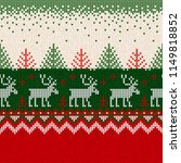 ugly sweater merry christmas... | Shutterstock .eps vector #1149818852