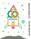 coworking concept as a... | Shutterstock .eps vector #1149824498