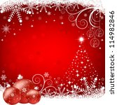abstract christmas background | Shutterstock .eps vector #114982846