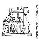 renaissance printer   retro... | Shutterstock .eps vector #114982996