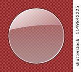 transparent round glass plate... | Shutterstock .eps vector #1149842225