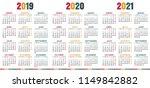 spanish calendar 2019   2021 ... | Shutterstock .eps vector #1149842882