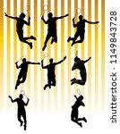 badmnton sillhouette... | Shutterstock .eps vector #1149843728