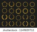 golden vector laurel wreaths on ...   Shutterstock .eps vector #1149859712