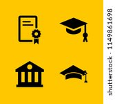 education icon. 4 education set ... | Shutterstock .eps vector #1149861698