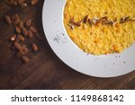 pumpkin risotto on the plate  ... | Shutterstock . vector #1149868142