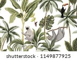 tropical vintage animals ... | Shutterstock .eps vector #1149877925