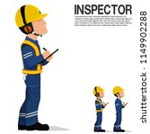 an inspector is writing on the... | Shutterstock .eps vector #1149902288