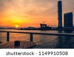 sunset of victoria harbor of...   Shutterstock . vector #1149910508
