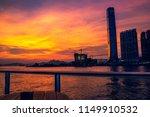sunset of victoria harbor of...   Shutterstock . vector #1149910532