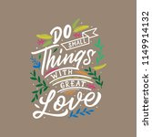 hand lettering and typography... | Shutterstock .eps vector #1149914132