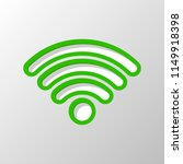 wi fi icon. paper style. cut... | Shutterstock .eps vector #1149918398