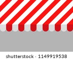 red and white striped sunshade. ... | Shutterstock .eps vector #1149919538