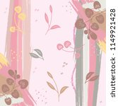 silk scarf with floral and... | Shutterstock .eps vector #1149921428