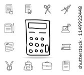 calculator sketch icon. element ... | Shutterstock .eps vector #1149922448