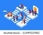 isometric business team work | Shutterstock .eps vector #1149922982
