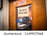"""A Sign Asks For """"quiet Please""""..."""