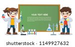 children doing science lab... | Shutterstock .eps vector #1149927632