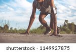 the man with runner on the...   Shutterstock . vector #1149927875