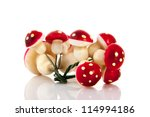 Decoration Mushrooms In Red...