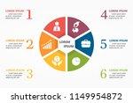 illustration infographic  ... | Shutterstock .eps vector #1149954872