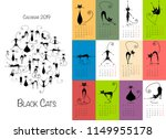 black cats. design calendar 2019 | Shutterstock .eps vector #1149955178