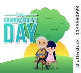 grandfather's day illustration | Shutterstock .eps vector #1149960998