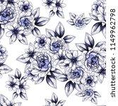 flower print in bright colors.... | Shutterstock .eps vector #1149962798