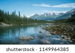 Landscape view of Wrangell-St. Elias National Park in Alaska, the largest national park in the United States.