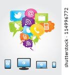 communications and cloud... | Shutterstock .eps vector #114996772