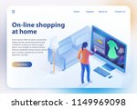 online shopping at home.... | Shutterstock .eps vector #1149969098