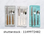 set of dining silverware on... | Shutterstock . vector #1149972482