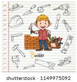 doodle builder and tools | Shutterstock .eps vector #1149975092