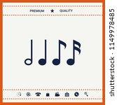 symbol of music  notes.... | Shutterstock .eps vector #1149978485