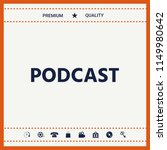 podcast   icon for web and... | Shutterstock .eps vector #1149980642
