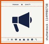 speaker  bullhorn icon | Shutterstock .eps vector #1149980738