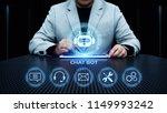 chat bot robot online chatting... | Shutterstock . vector #1149993242