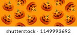 halloween pumpkins seamless... | Shutterstock .eps vector #1149993692