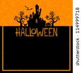 vector halloween background | Shutterstock .eps vector #114999718