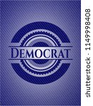 democrat emblem with jean... | Shutterstock .eps vector #1149998408