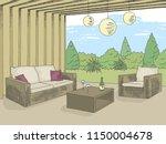 patio garden graphic color...   Shutterstock .eps vector #1150004678