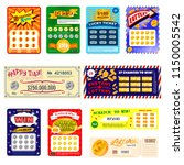 lottery ticket vector lucky... | Shutterstock .eps vector #1150005542