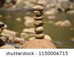 balance stones stacked. | Shutterstock . vector #1150006715