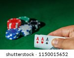 casino games concept poker... | Shutterstock . vector #1150015652