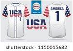 usa baseball jersey  sport... | Shutterstock .eps vector #1150015682