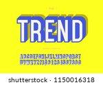 vector trend typeface bold... | Shutterstock .eps vector #1150016318