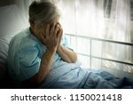 lonely elderly patients no... | Shutterstock . vector #1150021418